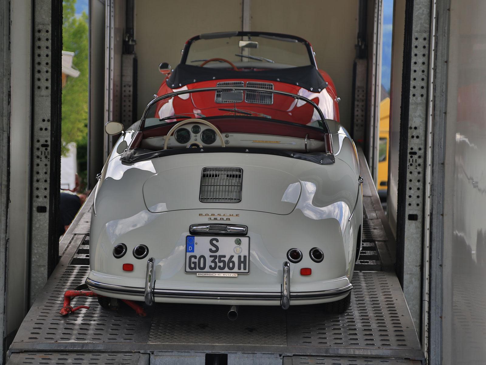 Porsche bei der Ankunft bei der Ennstal Classic (c) Stefan Gruber